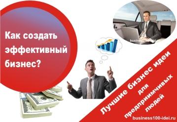как создать эффективный бизнес
